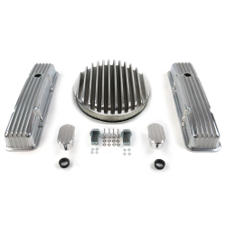 "SBC 14"" Deep Round/Tall Finned Engine Dress Up kit~w/ Breathers (No PCV) - Part Number: VPA7AC7D"