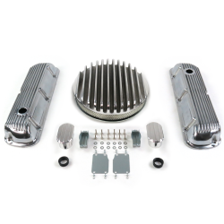 "SBF 14"" Deep Round/Finned Engine Dress Up kit~w/ Breathers (No PCV) 289-351 - Part Number: VPA7AC7F"