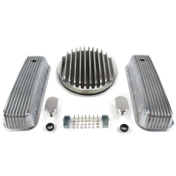 "BBC 14"" Deep Round/Finned Engine Dress Up kit~w/ Breathers (No PCV) - Part Number: VPA7AC80"