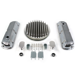 "SBF 14"" Deep Round/Finned Engine Dress Up kit~w/ Breathers (PCV) 289-351 - Part Number: VPA7AC84"