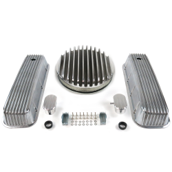 "BBC 14"" Deep Round/Finned Engine Dress Up kit~w/ Breathers (PCV) - Part Number: VPA7AC85"
