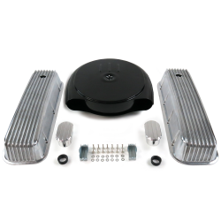 BBC Blk Caddy AC/Finned Engine Dress Up kit~w/ Breathers (No PCV) - Part Number: VPA7AC9E