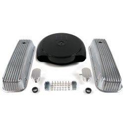 BBC Blk Caddy AC/Finned Engine Dress Up kit~w/ Breathers (PCV) - Part Number: VPA7ACA3