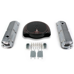 SBF PS Caddy AC/Finned Engine Dress Up kit~Holes No Breathers 289-351 - Part Number: VPA7ACB8