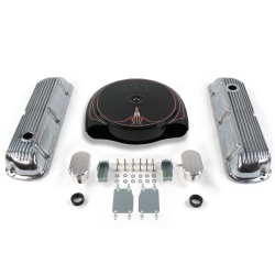 SBF PS Caddy AC/Finned Engine Dress Up kit~w/ Breathers (PCV) 289-351 - Part Number: VPA7ACC2