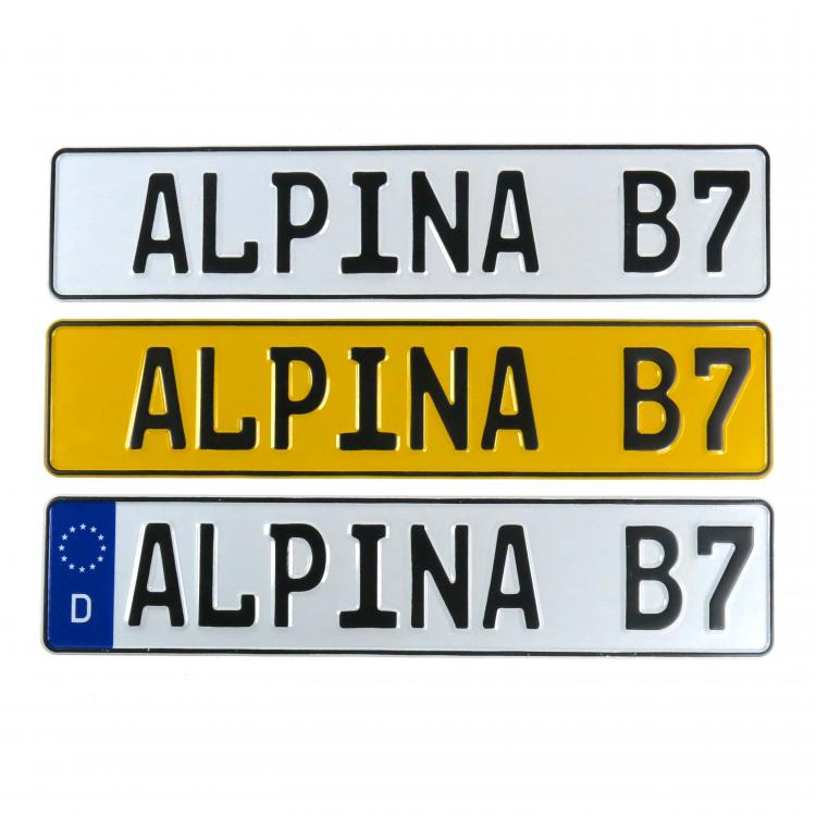 European Vintage Style License Plate EU Deutsche