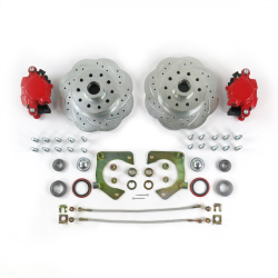 Mustang II 11in High Performance Big Brake Conversion 5x4.5 Red Calipers - Part Number: HEX7ABF8