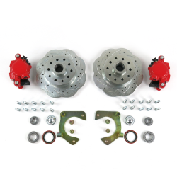 Mustang II 11inch High Performance Big Brake Conversion 5x4.75 Red Calipers - Part Number: HEX7ABF9