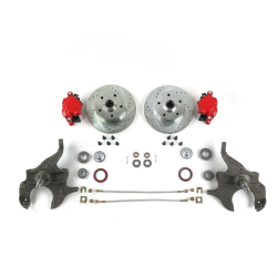 "A Body 2"" Drop Disc Brake Conversion with Red Calipers - Part Number: HEX7ABFE"