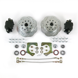 Mustang II Disc Brake Conversion 2-piece Spindle 11in Big Brake Conversion 5x4.5 - Part Number: HEXBK12CB7