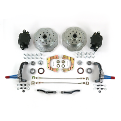 Mustang II 11in HP Big Brake Conversion System Stock Spindles 5x4.5 - Part Number: HEXBK14