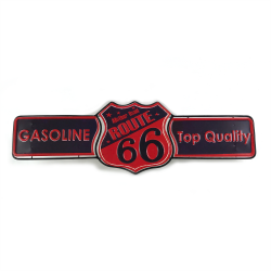 Layered Route 66 Metal Sign - Part Number: VPAMSIGN04