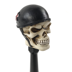 Biker Skull Custom Shift Knob and Topper - Part Number: ASCSN06007