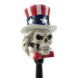 Uncle Sam Skull Custom Shift Knob and Topper - Part Number: ASCSN06015