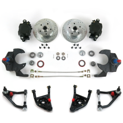 "68-74 Nova X-Body 2"" Drop Brake Conversion Kit with Tubular Control Arms - Part Number: HEXCABK6874"