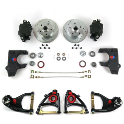 "55-57 Chevrolet 2"" Drop Brake Conversion Kit with Tubular Control Arms - Part Number: HEXCABK5557"