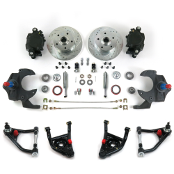 "68-74 Nova X-Body 2"" Drop Brake Kit with Tubular Control Arms & Shocks - Part Number: HEXCABK6874S"