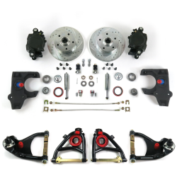 "55-57 Chevrolet 2"" Drop Brake Kit with Tubular Control Arms & Shocks - Part Number: HEXCABK5557S"