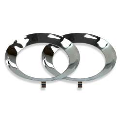 Paintable Plated Trim Rings For Frenched Headlight Kit (Pair) - Part Number: AUTFRHEADTRIMZ