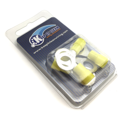 "Ring Tongues Terminal Connector Yellow 5/16"" - Part Number: KICRINGY5XBP"