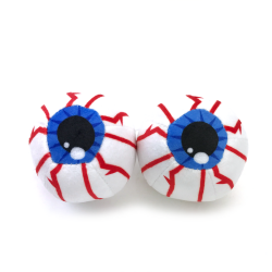 Fuzzy Hanging Rearview Mirror Eyeballs - Pair - Part Number: VPAFB001
