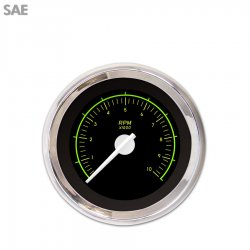 Tachometer Gauge - VX Black , White Modern Needles, Chrome Trim Rings ~ Style Kit Installed - Part Number: GAR145ZEXIABCD
