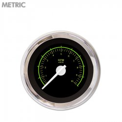 Tachometer Gauge - VX Black , White Modern Needles, Chrome Trim Rings ~ Style Kit Installed - Part Number: GAR145ZMXIABCD