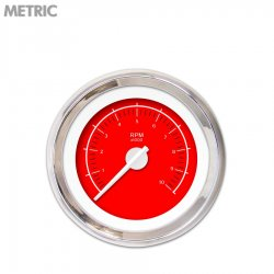 Tachometer Gauge - VX Red , White Modern Needles, Chrome Trim Rings ~ Style Kit Installed - Part Number: GAR148ZMXIABCD