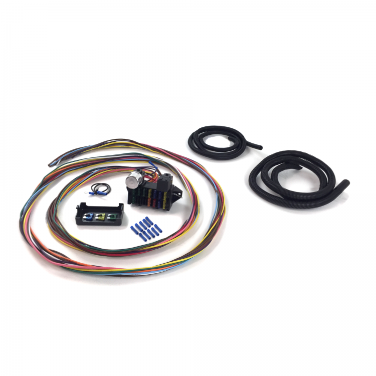 vw manx sand rail dune buggy 12 fuse wire harness kit - volkswagen ...  johnny law motors