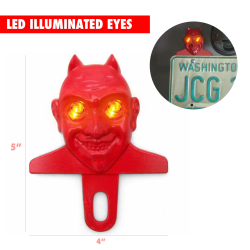 Illuminated El Diablo Devil License Plate Topper - Part Number: VPALPT006
