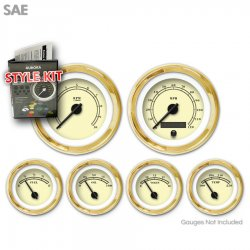 Style Kit -  SAE American Classic Tan, Black Classic Needles, Gold Trim Rings - Part Number: GARA10ZEXPAABC