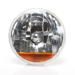 "Snake-eye 7"" Inch Halogen Lens Assembly with Amber Turn Signal - Part Number: AUTLENA3A"