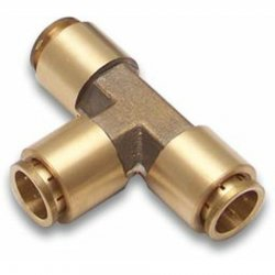 "1/2"" Push Tube 3 Way Air Fitting - Part Number: HEXAFC12PX12PX12P"