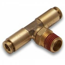 "1/4"" NPT Male to 1/4"" Push Tube Air Fitting - Part Number: HEXAFQ14NX14PX14P"