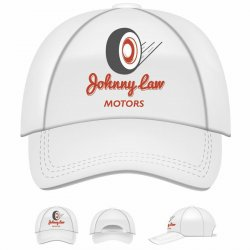 White Johnny Law Motors BaseBall Hat - Part Number: JLMAW18AU