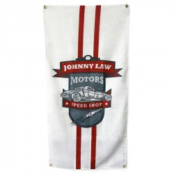 "24"" X 48"" Johnny Law Vertical Color Banner - Part Number: JLMPROJ002"