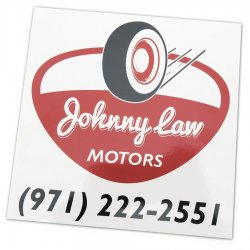 Johnny Law Motors Sticker - Part Number: JLMSTK001