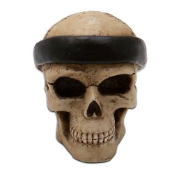 Slick Skull with Bandana Custom Shift Knob and Topper - Part Number: ASCSN06003