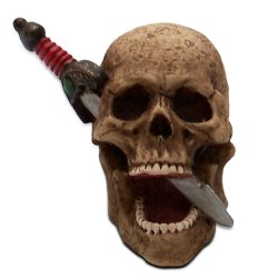 Skull with Dagger Custom Shift Knob and Topper - Part Number: ASCSN06004