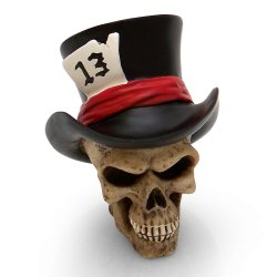 13 Hatter Skull Custom Shift Knob and Topper - Part Number: ASCSN06008
