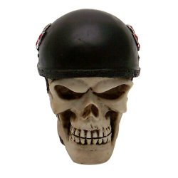 Biker Skull Custom Shift Knob and Topper - Part Number: VPASN06007