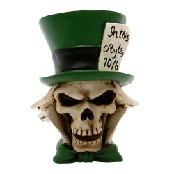 Mad Hatter Skull Custom Shift Knob and Topper - Part Number: ASCSN06017