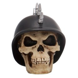 Mohawk German Helmet Skull Custom Shift Knob - Part Number: ASCSN06024