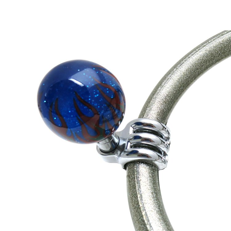 Blue Retro Series Adjustable Suicide Brody Knob Translucent with Metal Flake