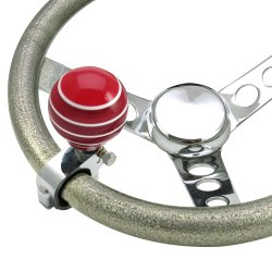 Red Super Stripe Adjustable Suicide Brody Knob - Part Number: ASCBA01002
