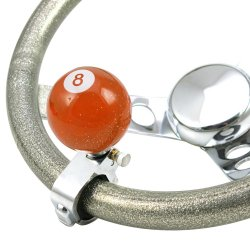 Orange 8 Ball Adjustable Suicide Brody Knob Translucent with Metal Flake - Part Number: ASCBA03022