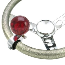 Red Flame Adjustable Suicide Shift Knob Translucent with Metal Flake - Part Number: ASCBA11006
