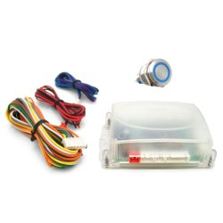 One Touch Engine Start Kit - Blue illuminated Button - Part Number: VPAHFS1001B