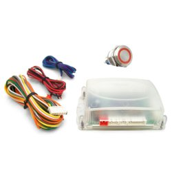 One Touch Engine Start Kit - Red illuminated Button - Part Number: VPAHFS1001R