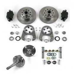1928-1948 Disc Brake Conversion 5x4.5 With Spindles & King Pin Set - Part Number: HEXBK23SPIN7